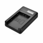 "Camera Battery Charger w/ 0.9"" LCD for Panasonic VBG130 - Black"