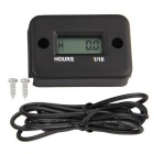 Hour Meter for Motorcycle ATV Snowmobile Yama Ski Dirt - Black