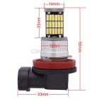 MZ H11 9W Car LED Front Fog Light / Headlamp Light White 45-SMD