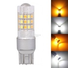 MZ T20 W21/5W 7443 8W Car LED DRL / Brake / Steering Light White + Yellow 2835 42-SMD 420lm 12V