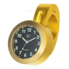 Universal Motorcycle Handlebar Mounted Water-Resistant Clock for Harley & More - Golden
