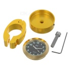 Motorcycle Handlebar Water-Resistant Clock for Harley & More - Golden