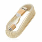 2-USB Car Charger & Hammer + Micro USB Cable - Silver White + Golden