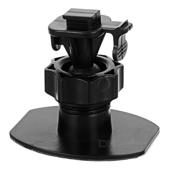360 Rotating Car DVR Holder w/ One Buckle / 3M Adhesive Tape - BlackGPS Holders<br>Form  ColorBlackModelN/AQuantity1 DX.PCM.Model.AttributeModel.UnitMaterialPlasticApplicable ProductsOthers,Car DVRAdjustable HeightNoAdjustable Width:NoRotation360 DX.PCM.Model.AttributeModel.UnitMax. Load500 DX.PCM.Model.AttributeModel.UnitPacking List1 x Holder<br>