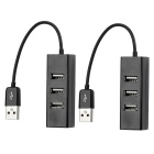 4-Port USB 2.0 Hub - Black ( 2PCS)