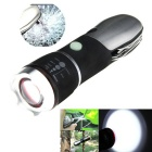 Outdoor Rechargeable Super Bright Camping Flashlight - Black + Silver