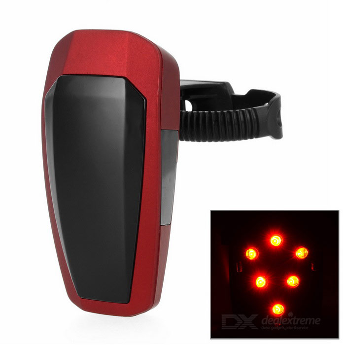 Automatically 10-LED Fast Strobe Bike Taillight Red Light - Red