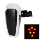 Light Sensitive Automatically Light Up /Shutdown 10-LED Fast Strobe Bike Taillight Red Light - White