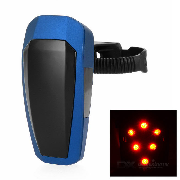 Automatically 10-LED Fast Strobe Bike Taillight Red Light - Blue