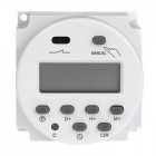 Digital LCD Power Programmierbarer Timer Switch AC 220 ~ 240V 16A - Weiß