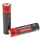 Fandyfire Positive Electrode Protected Boarded 3.7V 18650 2200mAh Lithium Rechargeable Battery