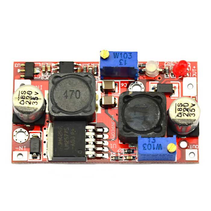Jtron LX2577 Automatic Buck-Boost LED Constant Current Power Supply Module - Red