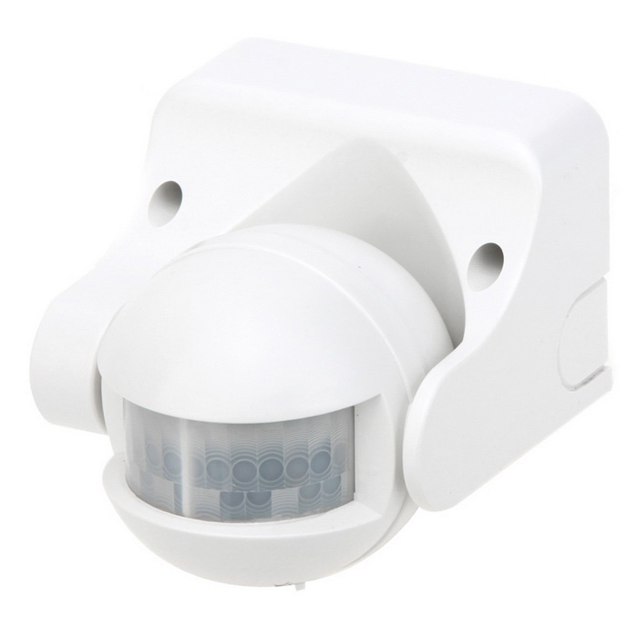 IR Infrared Motion Sensor Automatic Light Control Switch - White