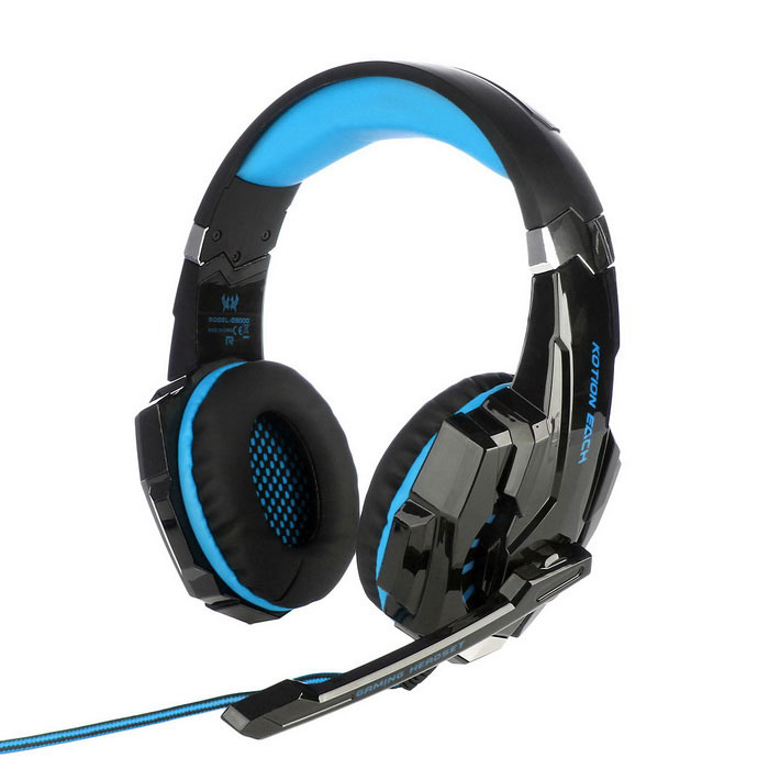kotion each g9000 glaring led light gaming headset blue black free shipping dealextreme. Black Bedroom Furniture Sets. Home Design Ideas