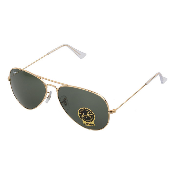 Ray-Ban RB3025 L0205 58M Series Pilot Sunglasses - Dark Green + Gold