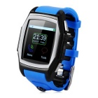 "GT68 1.54"" MT6261A GSM Smart Watch Phone w/ GPS / Bluetooth / NFC / Heart Rate Monitor + More - Blue"