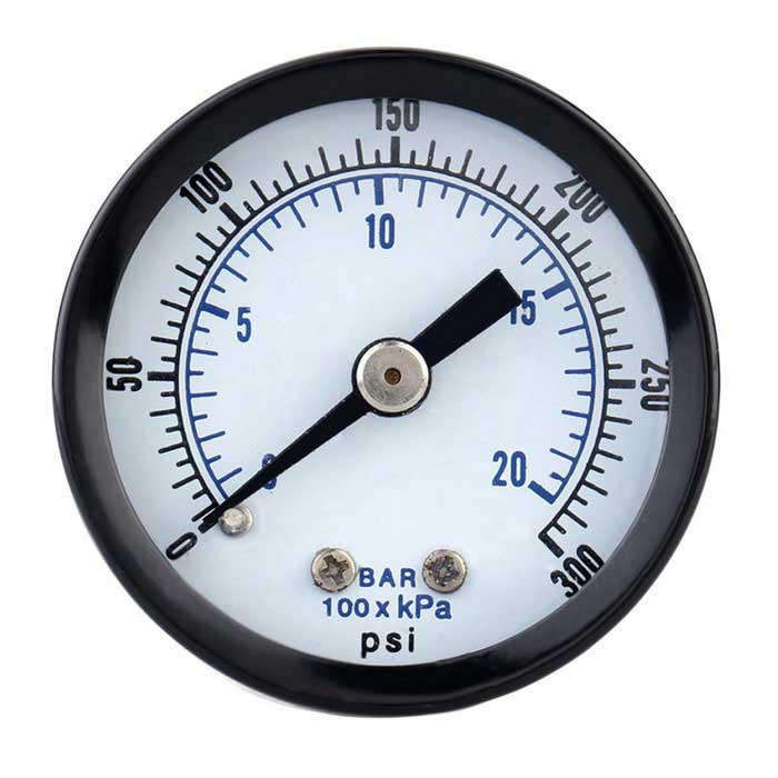 0-20bar 0-300psi Air Pressure Gauge Meter Piezometer Double Scale