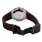 MEGIR Men's Waterproof Silicone Band Quartz Watch - Brown + White