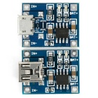 TP4056 3.7V Lithium Battery Charging Board Micro USB Charger Module + Mini USB Charger Module