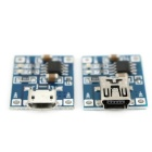 TP4056 3.7V Lithium Battery Micro + Mini USB Charger Module
