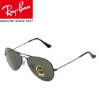 Genuine Ray-Ban RB3025 L2823 58M Series Pilot UV400 Protection Sunglasses - Dark Green + Black