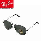 Genuine Ray-Ban RB3026 L2821 62M Pilot UV400 Protection G15 Sunglasses - Black + Dark Green