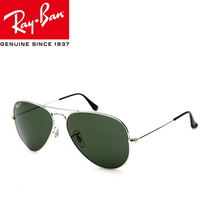 Ray-Ban RB3025 003/58 58M UV400 Sunglasses - Silver + Dark Green