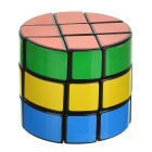 3x3x3 Cylindrical Magic Cube Educational Puzzle Toy - Black + Multicolored