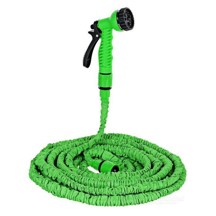Flexible Water Pipe / Water Gun Kit - Green (30m)Car Cleaning Tools<br>Form ColorGreen + Black + Multi-ColoredModelN/AMaterialWater gun; ABS; Water pipe: braided sleeving; Connector: PVCShade Of ColorGreenTypeOthers,Car washing, flower watering and cleaningPacking List1 x Water gun1 x Stretchable pipe (10~30m)2 x Adapters<br>