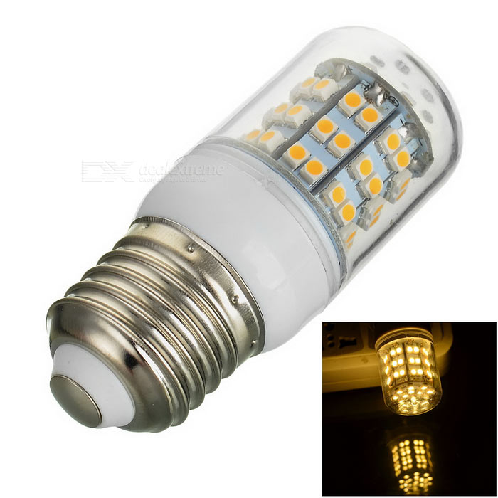 E27 7W 230lm 60-SMD 3528 Warm White Light Corn Lamp (AC 220~240V)