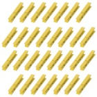 Wooden Clip Clamp - Yellow (30 PCS)
