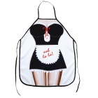 Housemaid Pattern Polyester Apron - Black + White