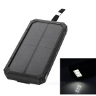 3W 1A 5695mAh Solar Power Charging Bank - Black