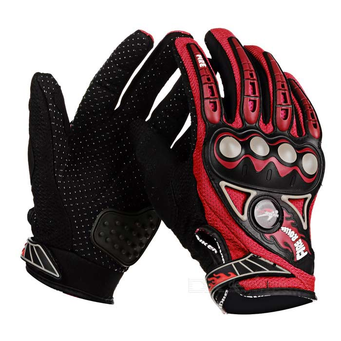 PRO-BIKER MCS23 Bike Cycling Breathable Full-Finger Gloves - Red (M)