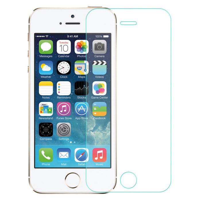 Angibabe 0.18mm Tempered Glass Film for IPHONE 5, 5S, 5C - Transparent