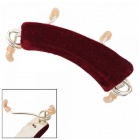 Steel Adjustable Violin Shoulder Rest - Dark Red