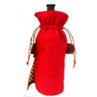 Monkey Shape Christmas Red Bottle Bag Candy Bag - Red