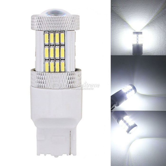 MZ T20 W21W 7440 10W Car LED de copia de seguridad de luz / Reverse Lamp Blanco 54-SMD