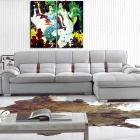 Bizhen Frame-free Chinese Classical Style Beauty Painting Canvas Wall Decor Murals (2 Panels)
