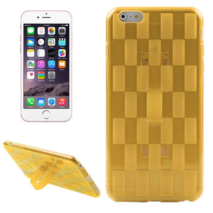 Hat-Prince Weave Pattern Soft Case for IPHONE 6 PLUS / 6S PLUS - Gold
