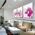 Bizhen Frame-free Flower Painting Canvas Wall Art Picture Home Living Room Decoration