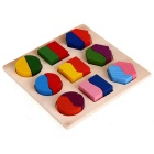 Wooden Puzzle Jigsaw Shape for Preschool Kids Education - Multicolored