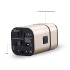 MOCREO 719 3.2A 1400W Universal Travel Charger w/ Dual USB -Golden