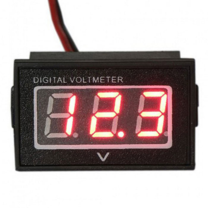Monitor Battery Meter 2.5-30V DC Auto Gauge Small Digital Voltmeter