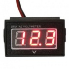 Waterproof Monitor Battery Meter 2.5-30V DC Auto Gauge Small Digital Voltmeter Red LED Reverse