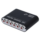 SPDIF Coaxial to 5.1/2.1 Channel AC3/DTS Audio Rush Decoder - Black