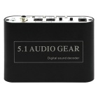 USB Digital DTS/AC3 5.1-Channel Analog Audio Dolby Gear Sound Decoder Converter - Black
