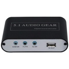 USB Digital DTS/AC3 5.1-Channel Analog Audio Dolby Decoder - Black