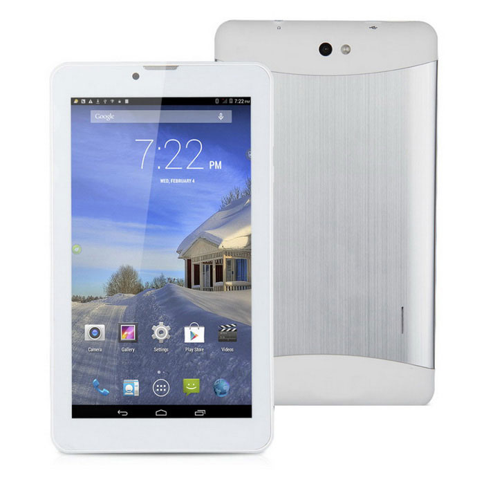 "7"" Android 4.4 3G Tablet PC w / 512MB RAM, 4 GB ROM, GPS, BT - bílá"