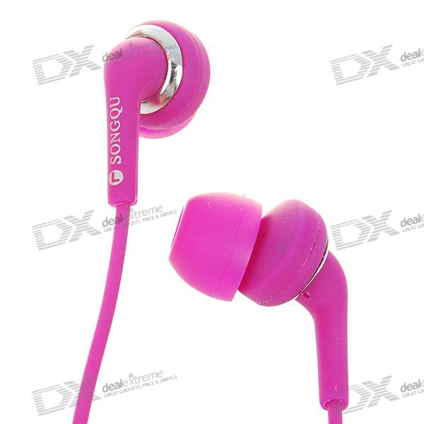 Stylish Noise Isolation In-Ear Stereo Earphone - Purple Red (3.5mm Jack/1.4M-Cable)